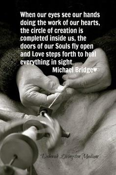 Michael Bridge heart and hands quote