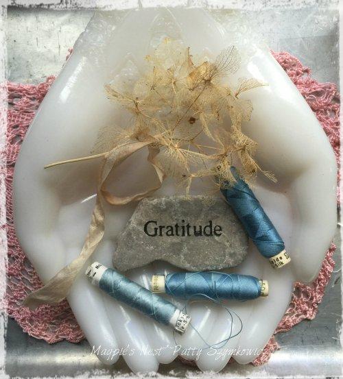 Magpie's Nest Patty Szymkowicz gratitude hand silk thread