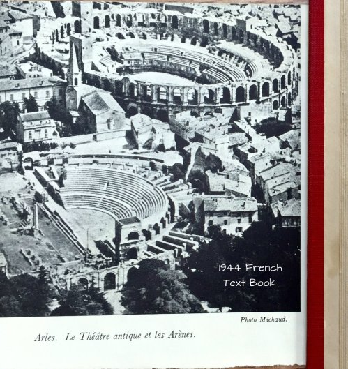 Magpie's Nest Arles France 1944 text book page