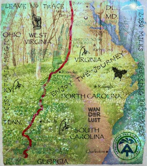 Magpie's Nest Patty Szymkowicz Appalachian Trail Collage 2