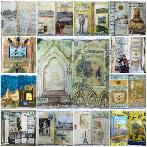 Magpie's Nest Patty Szymkowicz French Travel Journal May Pages