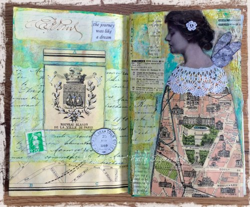 Magpie's nest Patty Szymkowicz Like A Dream journal pages