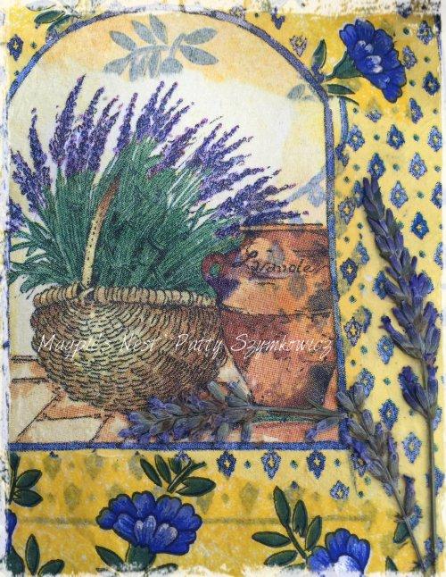 Magpie's Nest Patty Szymkowicz pressed Lavender