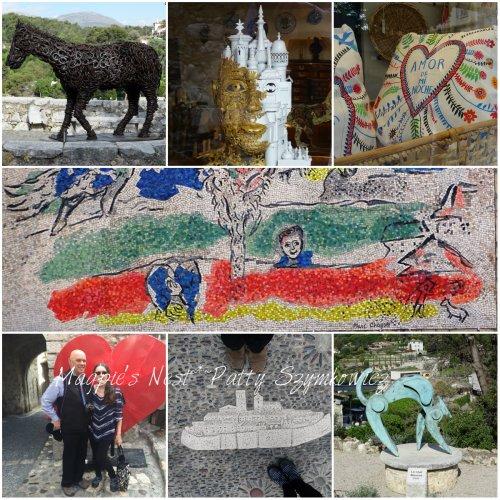 Magpie's Nest St Paul de Vence artwork collage
