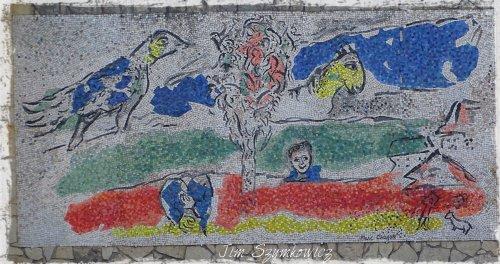 Magpie's Nest St Paul de Vence Marc Chagall mosaic