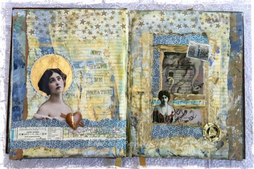 Magpie's Nest Patty Szymkowicz Art Helps Me Breathe Journal Pages