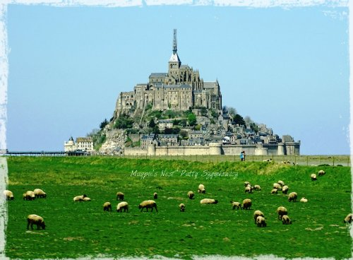 Magpie's Nest Patty Szymkowicz Mont St Michel with sheep