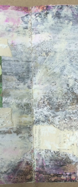 Magpie's Nest Gesso Citra Solv art journal pages