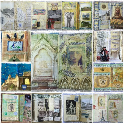 Magpie's Nest Patty Szymkowicz French Travel Journal Sampler