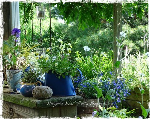 Magpie's Nest Patty Szymkowicz Garden blues