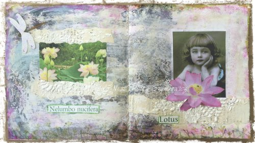 Magpie's Nest Patty Szymkowicz Lotus Art Journal Pages