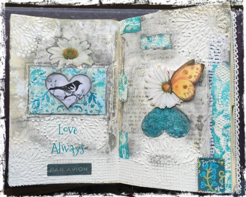 Magpie's Nest Patty Szymkowicz Love Always journal pages