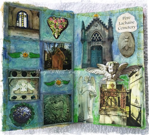 Magpie's Nest Patty Szymkowicz Pere Lachaise Cemetery journal pages
