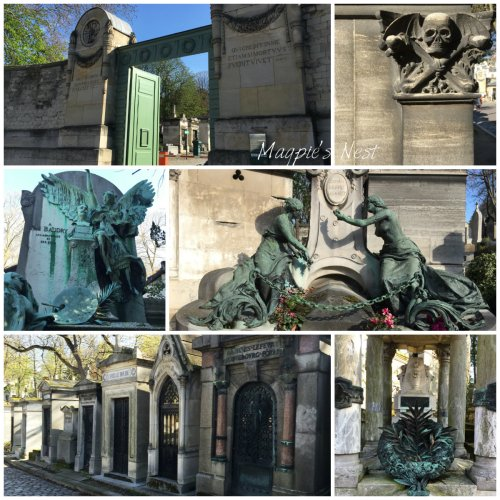 Magpie's Nest Patty Szymkowicz Pere LaChaise Entrance gate collage