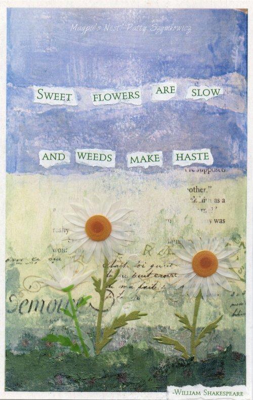 Magpie's Nest Patty Szymkowicz Weeds make haste