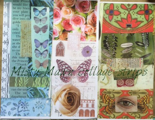 Misty Mawn's collage paper gifts