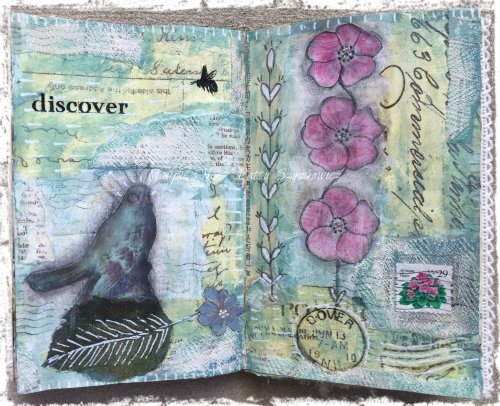 Magpie's Nest Patty Szymkowicz discover art journal pages