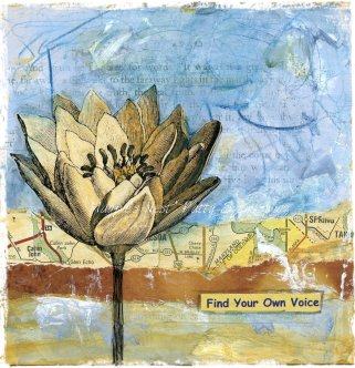 Magpie's Nest Patty Szymkowicz lotus collage