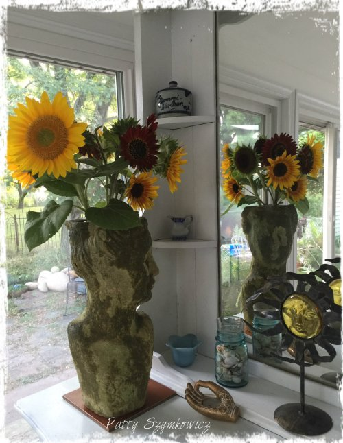 Magpie's Nest Patty Szymkowicz sunflower lady reflection 1