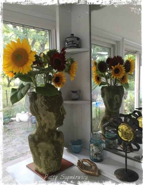 Magpie's Nest Patty Szymkowicz sunflower lady reflection 1