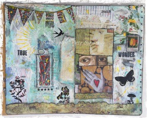 Magpie's Nest Patty Szymkowicz TRUE Wonder journal pages