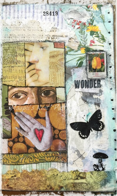 Magpie's Nest Patty Szymkowicz WONDER art journal page